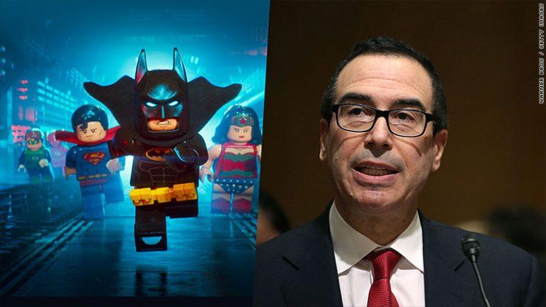 'Lego Batman' producer today. Treasury secretary tomorrow?